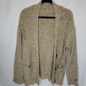 Margaret O'Leary Tan Cardigan Wool Blend Sz Small